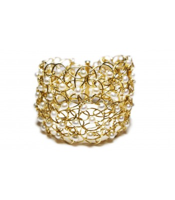 "2.5"" Pearl Cuff in Gold"