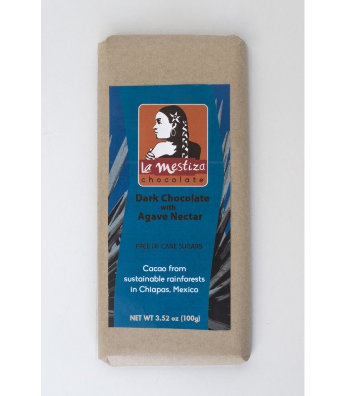 European style gourmet chocolate bar with maguey nectar, 70% cocoa.