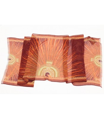 Feather Art Pineda Covalin Silk Chiffon in Brown