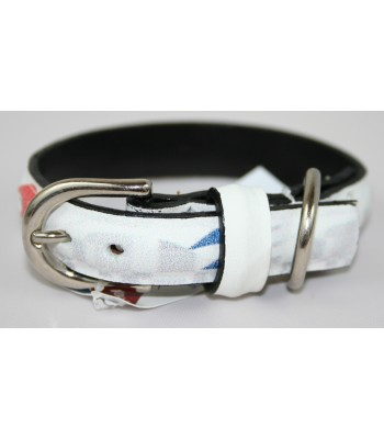 "USPS Eagles White Leather Extra-Small Collar 1/2""x10"""