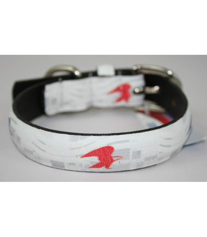 "USPS Eagles White Leather Small Collar 3/4""x14"""