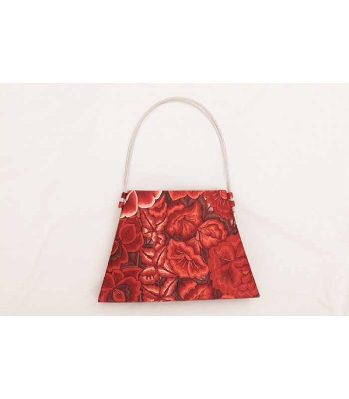 Trapeze Bag Pineda Covalin Tehuana in Red