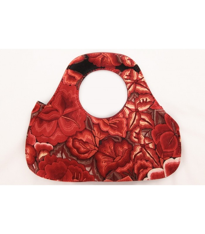 Pyramid Bag Pineda Covalin Tehuana in Red