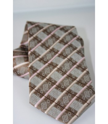 Bolsa de Mandado Pineda Covalin Jacquard Silk Tie in Brown