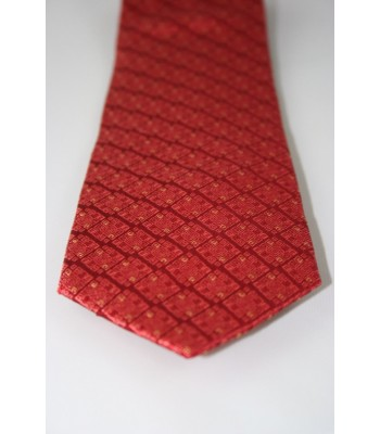 Toztziles Pineda Covalin Jacquard Silk Tie in Red