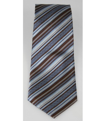 Roots Pineda Covalin Jacquard Silk Tie in Brown