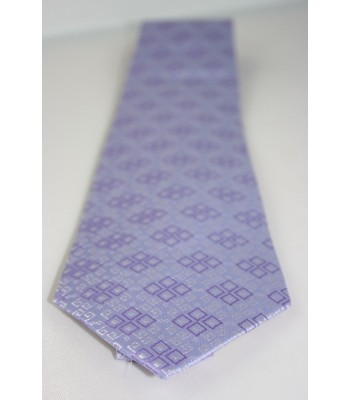 Embroideries from Oaxaca Pineda Covalin Silk Jacquard Tie in Lilac
