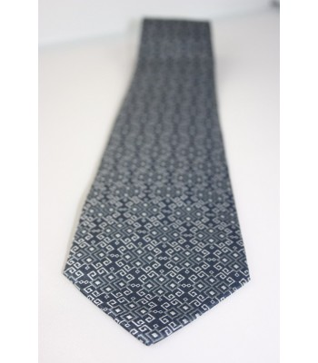 Embroideries from Oaxaca Pineda Covalin Silk Jacquard Tie in Oxford Gray