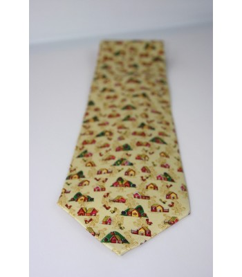 Casitas in Amate Paper Pineda Covalin Silk Tie in Yellow