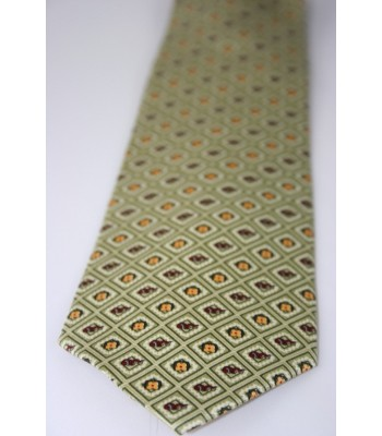 Sun and Fire Pineda Covalin Silk Tie in Green