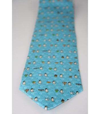 Pilgrimage Pineda Covalin Silk Tie in Turquoise