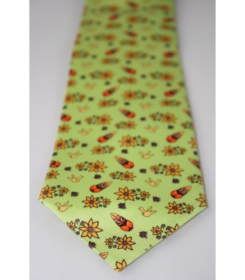Metepec Pineda Covalin Silk Tie in Lime Green
