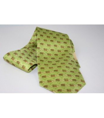 Cacao Pineda Covalin Silk Tie in Green