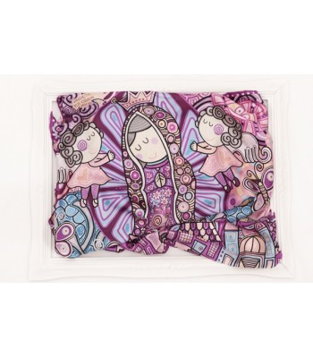Guadalupanísima Pineda Covalin Large Silk Scarf in Purple