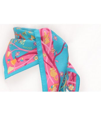 Mayan Nature Pineda Covalin Silk Scarf in Blue