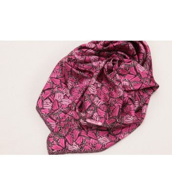 Monarch Butterfly Pineda Covalin Large Silk Scarf in Magenta