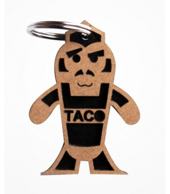 Iguana 4 Taco Keychain in Black