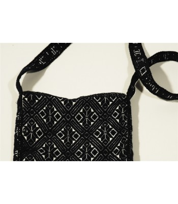 Hand Embroidered Traditional Mazahua Satchel in Black