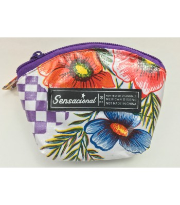 Sensacional Flowers Eunice Large Coin Purse in Blue