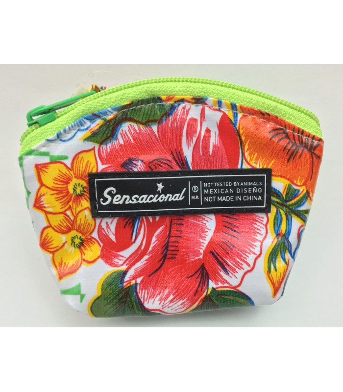 Sensacional Flowers Eunice Large Coin Purse in Green