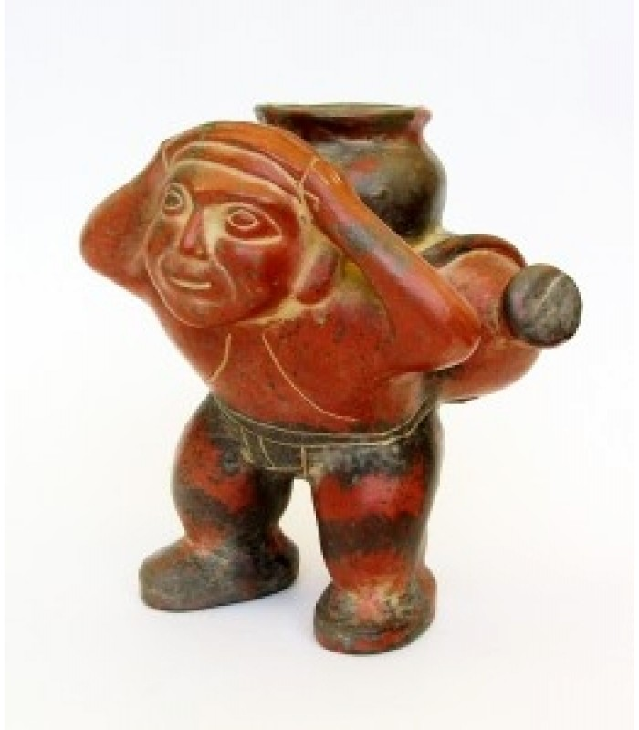 Tlamatini Clay Figurine Representing a Pre-Hispanic Water Boy