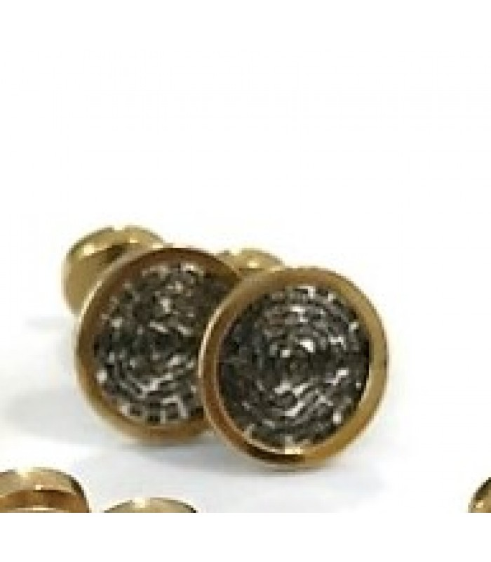 Upsala cufflinks made with Gold Plated Brass with Tobacco Color Crystal Beads