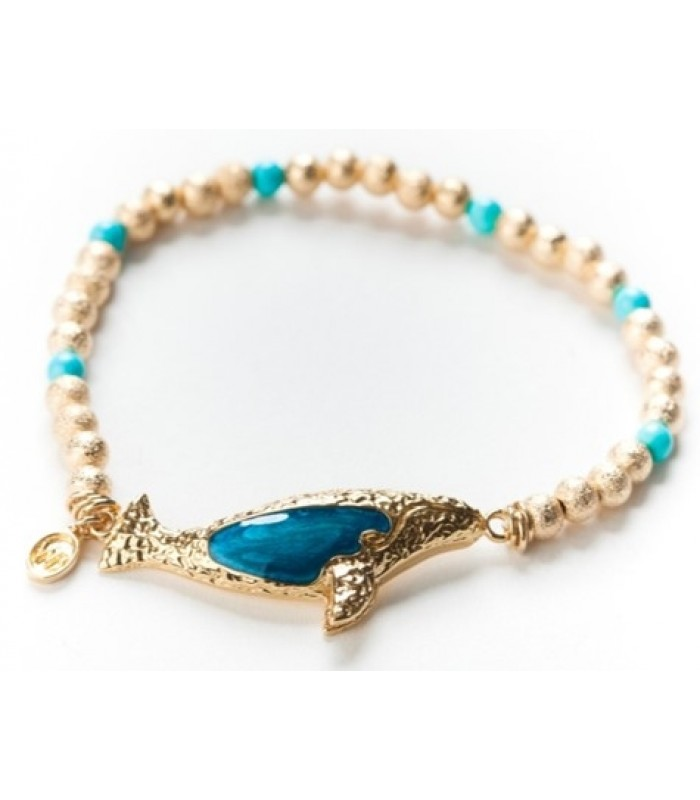 Gold Plated Gray Whale Bracelet