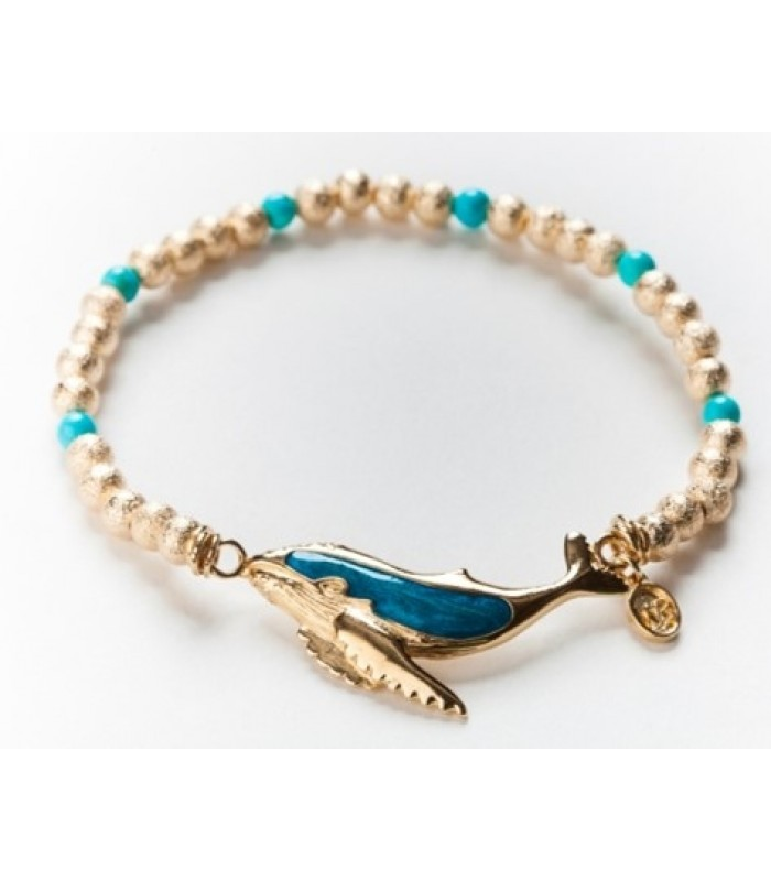 Gold Plated Humpback Whale Bracelet