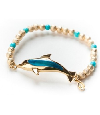 Gold Plated Dolphin and Bracelet