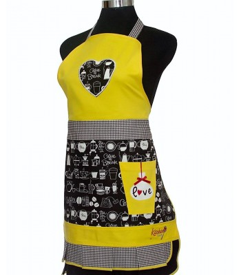 Women's Yellow Tea Apron
