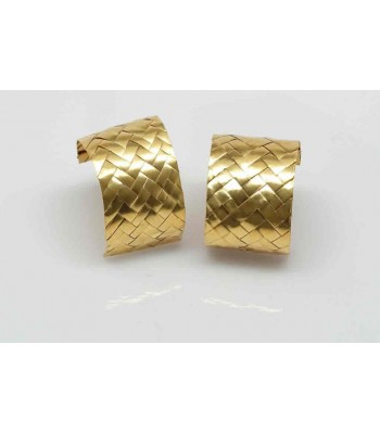 Mis Raices Woven Gold Earrings