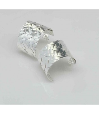 Mis Raices Silver Woven Earrings