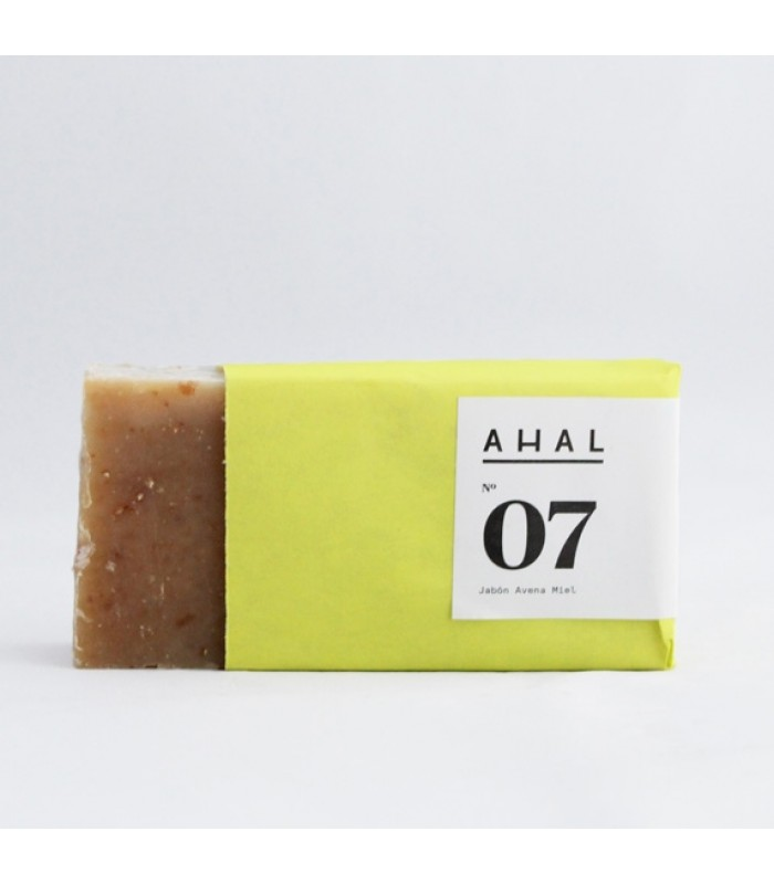 "Ahal's Scrub Soap Bar #07 ""Honey Oatmeal"""