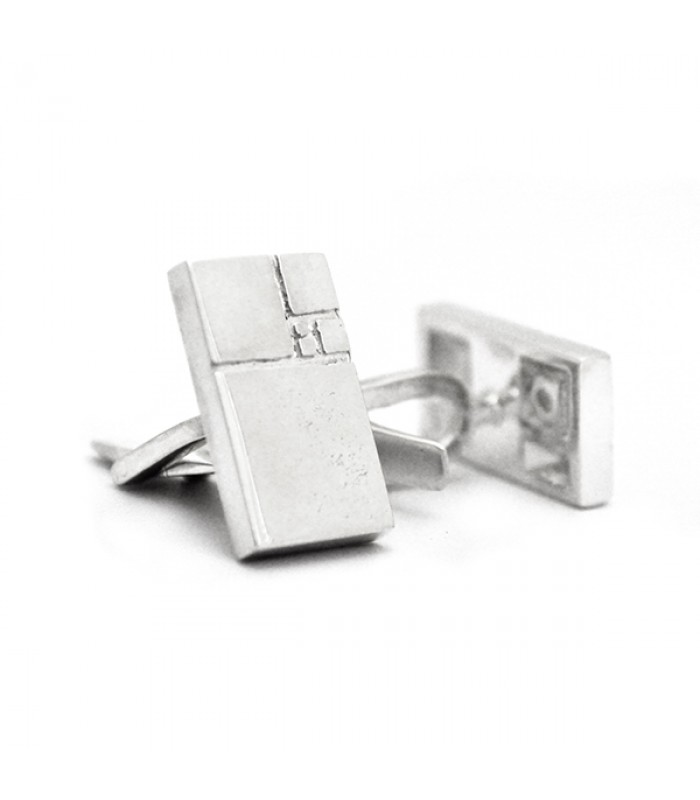 Aurea .925 Silver and Rhodium Plating Cufflinks
