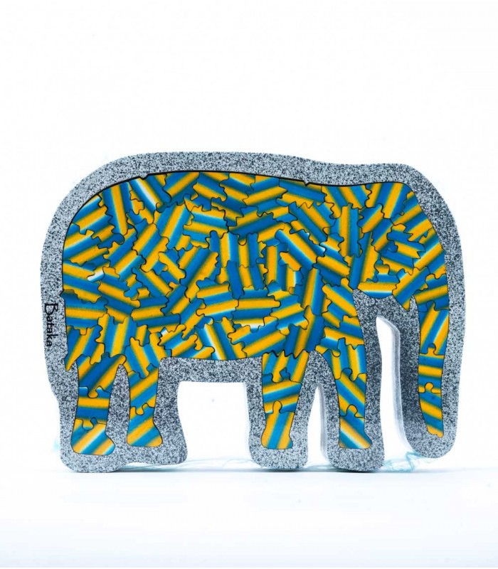 Elephant with 3 Levels Artistic Jigsaw Puzzle
