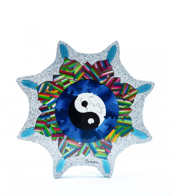 Mandala Yin and Yang with 3 Levels Artistic Jigsaw Puzzle