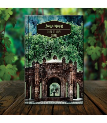 Colonial Fountain collector's organic notebook with architectural designs from the state of Chiapas.