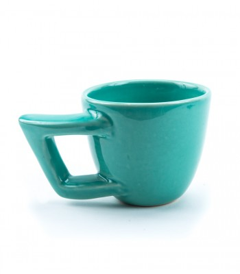 Comma Ceramic Mug in Aqua