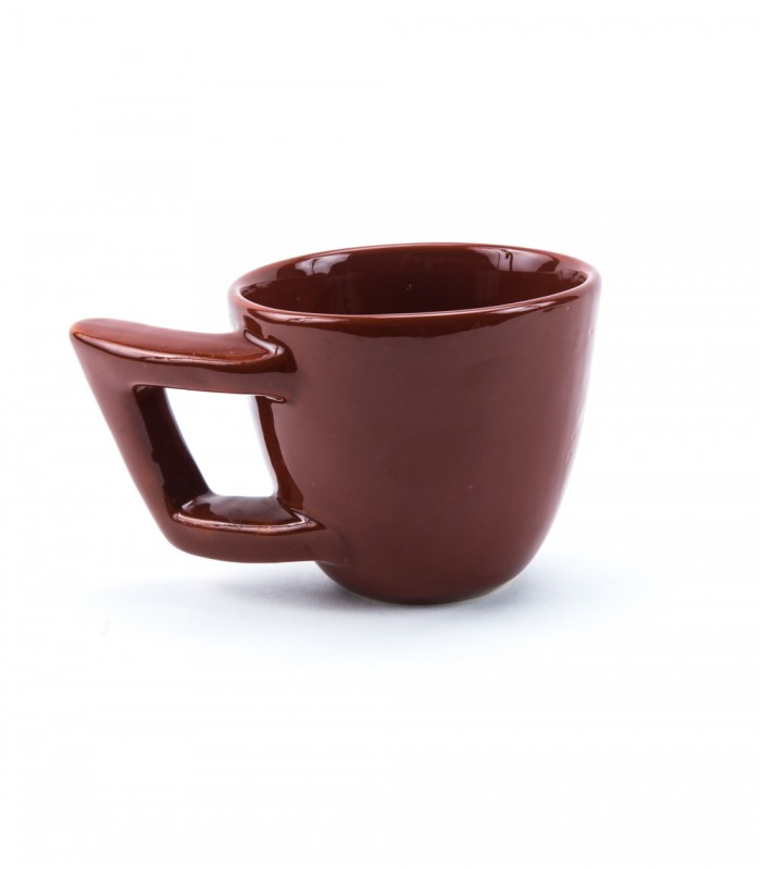 Comma Ceramic Mug in Chocolate Brown