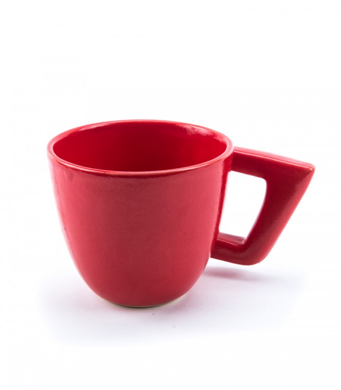 Comma Ceramic Mug in Red