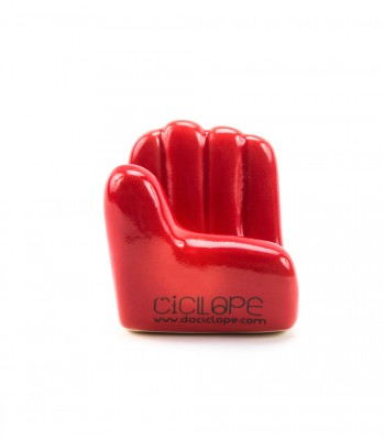 Red Ceramic Hand Cell Holder