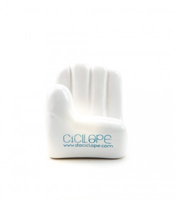 White Ceramic Hand Cell Holder