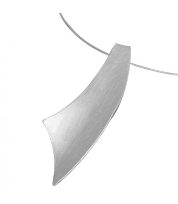 Tie Matte Necklace with Silver Choker
