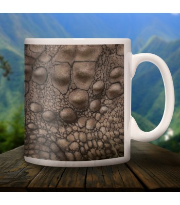Crocodile collector's mug in ceramic with designs of the common animals found in Chiapas.