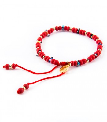 Eyes Sequin Red Bracelet