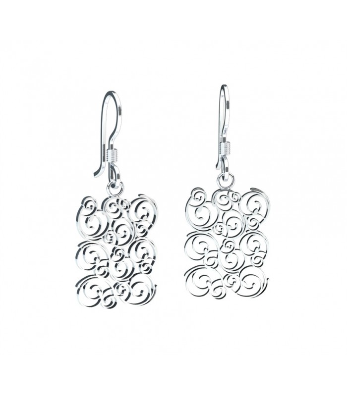 Hanging Ivy Silver Earrings