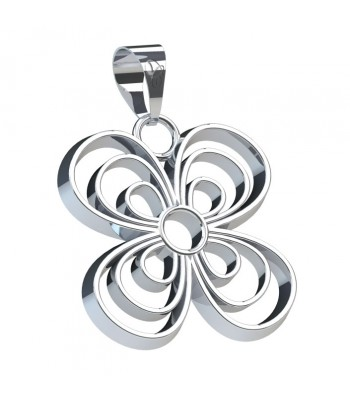 Pansy Silver Pendant