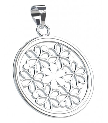 Bouquet of Lilies Silver Pendant