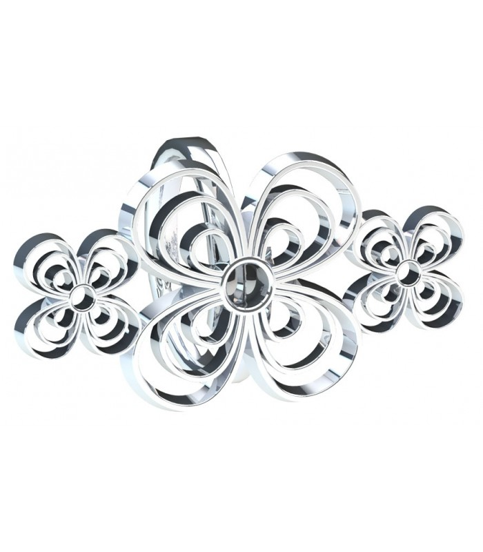 Pansies Trio Silver Ring