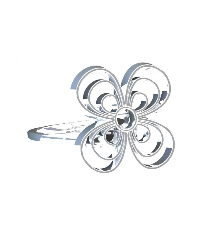Pansy Silver Ring
